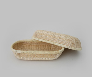A handmade wicker basket