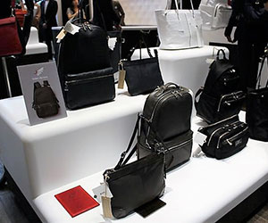 Toyooka bags on a display stand