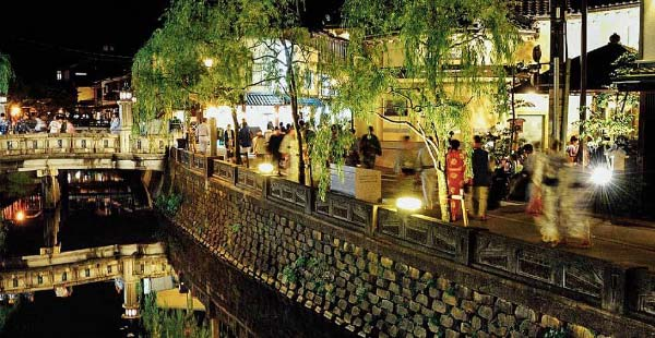 The night streets of Kinosaki Onsen
